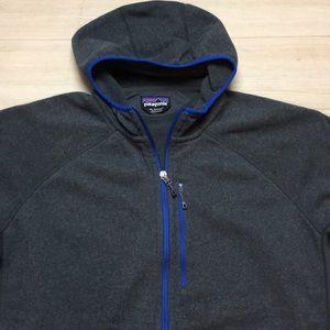 Patagonia R1 Grey Blue Hoodie Full Zip Mens XXL